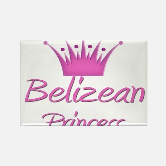 Belizean Princess Rectangle Magnet