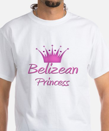 Belizean Princess White T-Shirt