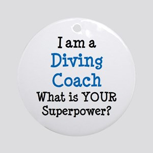 diving coach Round Ornament