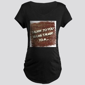 Brick Wall Maternity T-Shirt
