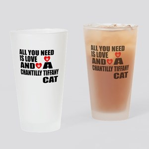 All You Need Is Love Chantilly Tiff Drinking Glass