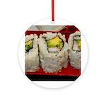 California Roll - Sushi Ornament (Round)