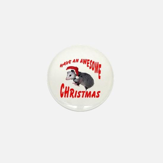 Santa Helper Possum Mini Button