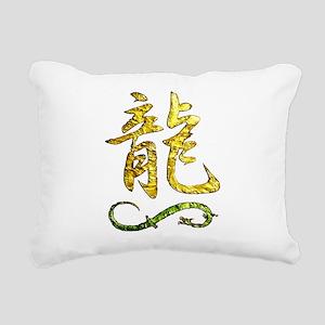 DRAGON KANJI Rectangular Canvas Pillow