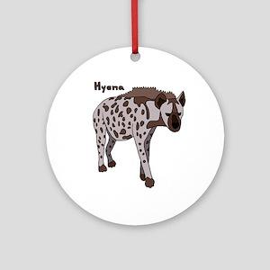 Hyena Round Ornament