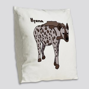 Hyena Burlap Throw Pillow