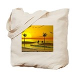 Paradise Shore Sunset Tote Bag