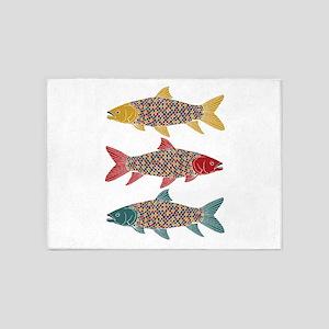 Rainbow Fish 5'x7'Area Rug