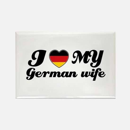I love my German wife Rectangle Magnet