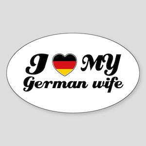 I love my German wife Oval Sticker