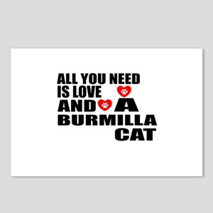 All You Need Is Love Burm Postcards (Package of 8)