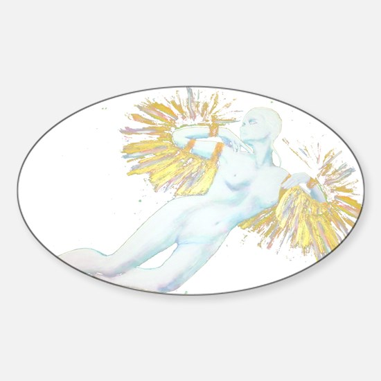 White Lady Oval Decal