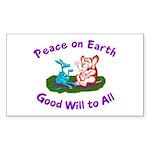 E&D Peace - Rectangle Sticker