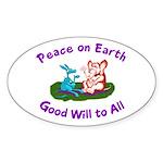 E&D Peace - Oval Sticker