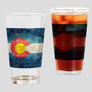 Colorado State Flag - Retro Style Drinking Glass