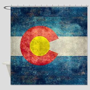 Colorado State Flag - Retro Style Shower Curtain