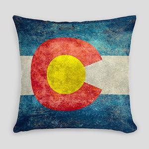 Colorado State Flag - Retro Style Everyday Pillow