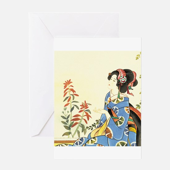 Funny Japanese geisha Greeting Card