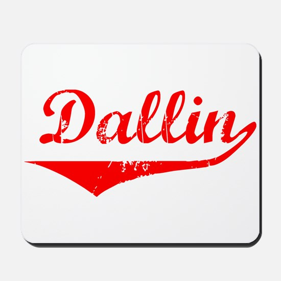 Dallin Vintage (Red) Mousepad