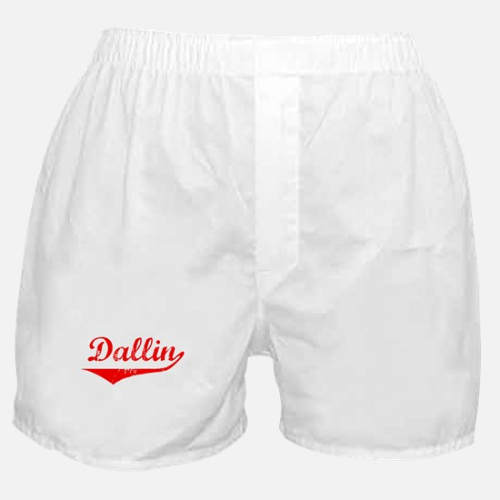 Dallin Vintage (Red) Boxer Shorts