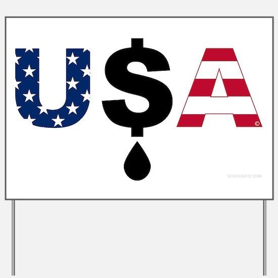 USA OIL Yard Sign