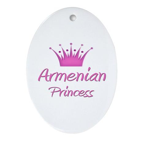 Armenian Princess Oval Ornament