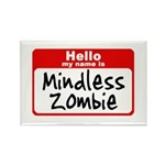 Mindless Zombie Rectangle Magnet