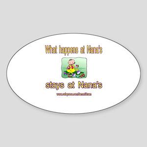 STAYS AT NANA Oval Sticker