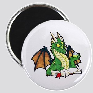 "Green Bookdragon 2.25"" Magnet (10 pack)"