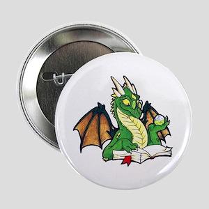 """Green Bookdragon 2.25"""" Button"""