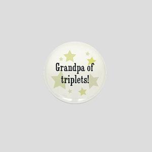 Grandpa of triplets! Mini Button