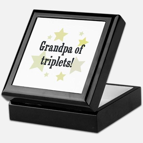 Grandpa of triplets! Keepsake Box