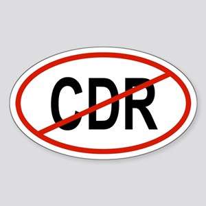 CDR Oval Sticker