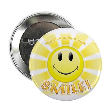 "Smile Face Stripes 2.25"" Button"