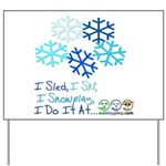 Snowplay Yard Sign
