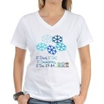 Snowplay Women's V-Neck T-Shirt