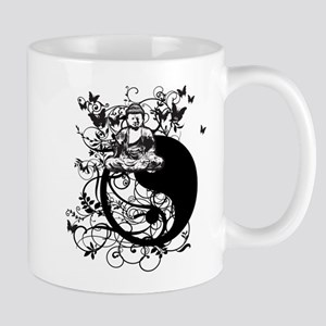 Buddha Design in Black Mug