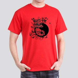 Buddha Design in Black Dark T-Shirt