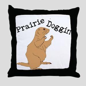 Prairie Doggin Throw Pillow