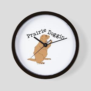 Prairie Doggin Wall Clock