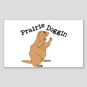 Prairie Doggin Rectangle Sticker