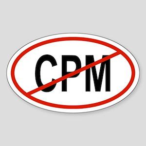 CPM Oval Sticker
