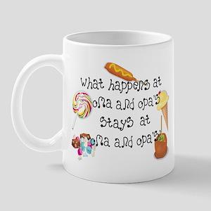 What Happens at Oma and Opa's... Mug