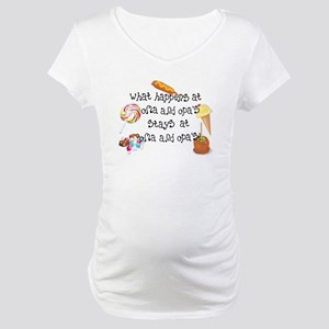What Happens at Oma and Opa's... Maternity T-Shirt