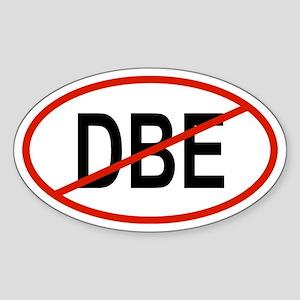 DBE Oval Sticker