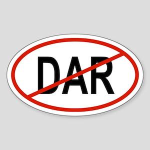 DAR Oval Sticker