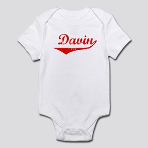 Davin Vintage (Red) Infant Bodysuit