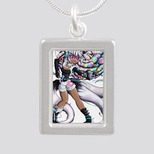Cyber Kitsune Girl Necklaces