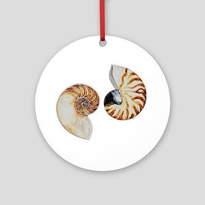 Chambered Nautilus Ornament (Round)