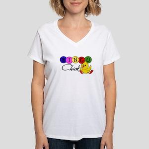 Bingo Chick Women's V-Neck T-Shirt